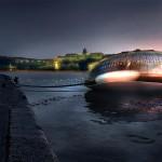 SSC | Állóhajó a Dunán